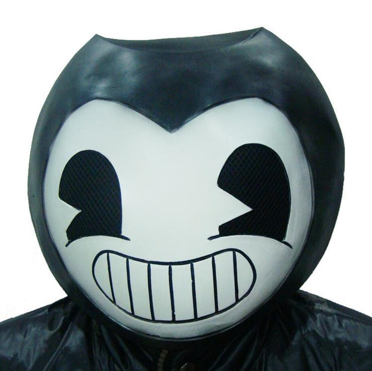 Kids Bendy Latex Mask Bendy And The Ink Machine Costume Prop Halloween Party