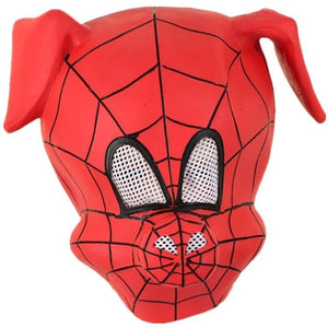 Kids Spider-Ham Latex Mask Prop Spider-Man: Into the Spider-Verse Costume Party Prop