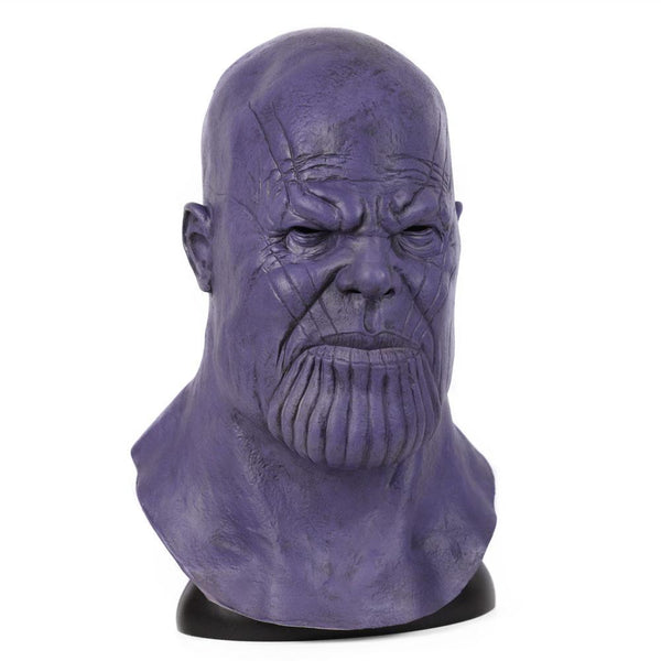 Kids Thanos Purple Latex Mask End Game Costume Prop Halloween Party