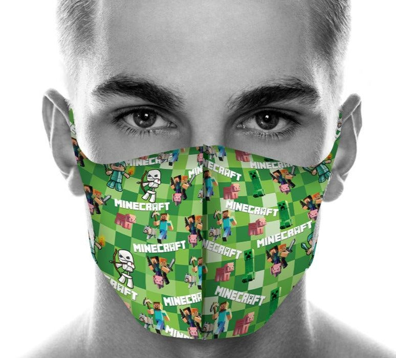 Minecraft Face Cover Dust-proof Ice Silk Face Gaitor