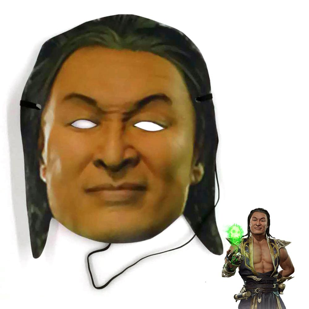 2019 Mortal Kombat 11 Young Shang Tsung Paper Mask Costume Prop Halloween Party