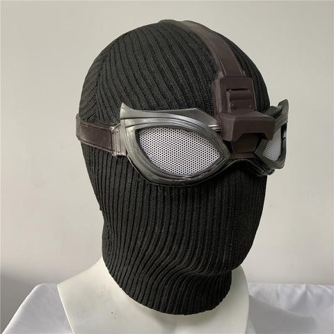 Spider-Man Noir Stealth Latex Mask Far From Home Costume Party Prop