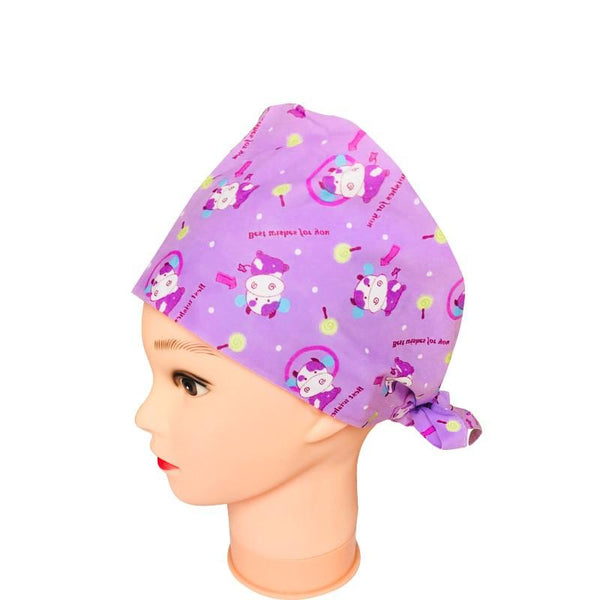 Unisex Cotton Bouffant Scrub Hat Print