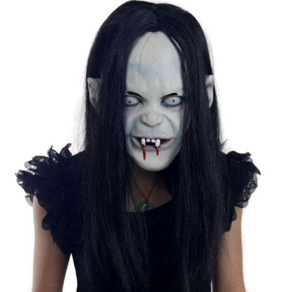 Halloween Yamamura Sadako Japanese Ghost Latex Mask Costume Prop