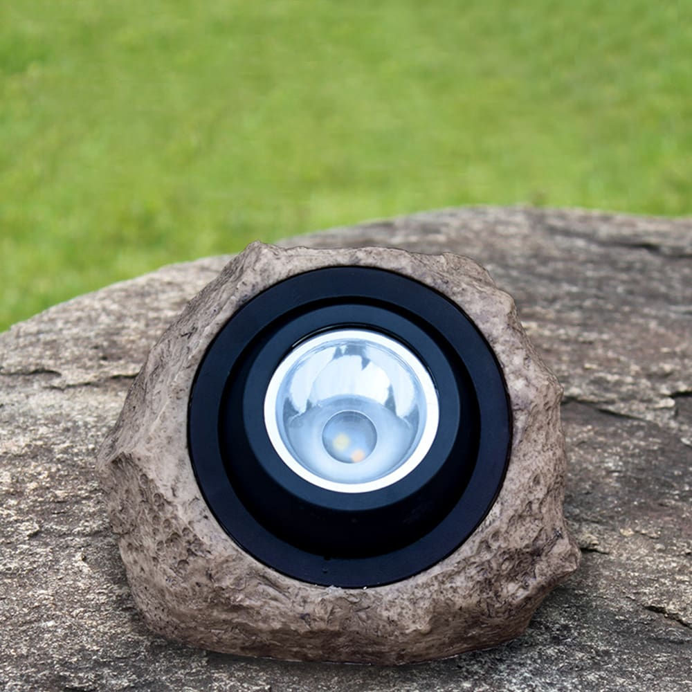 1PC Solar Simulate Resin Stone Lamp