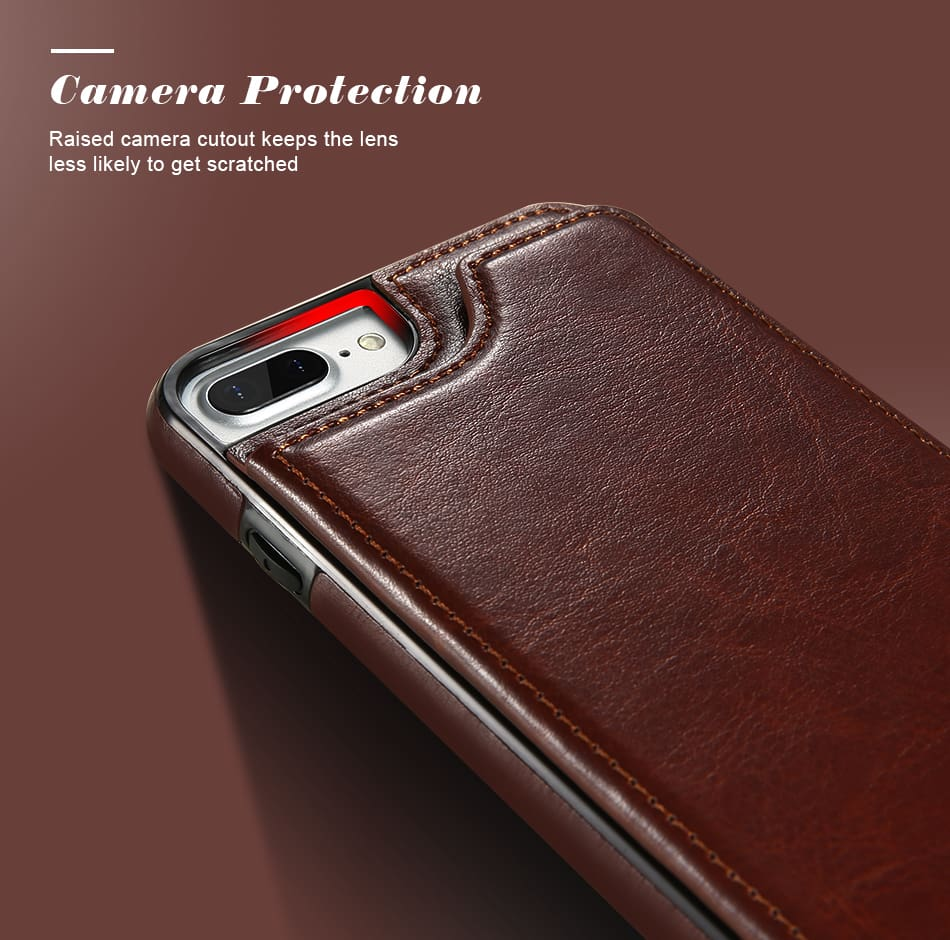 Flip Leather Case For iPhone 7 6 6S Plus YYF  (2)