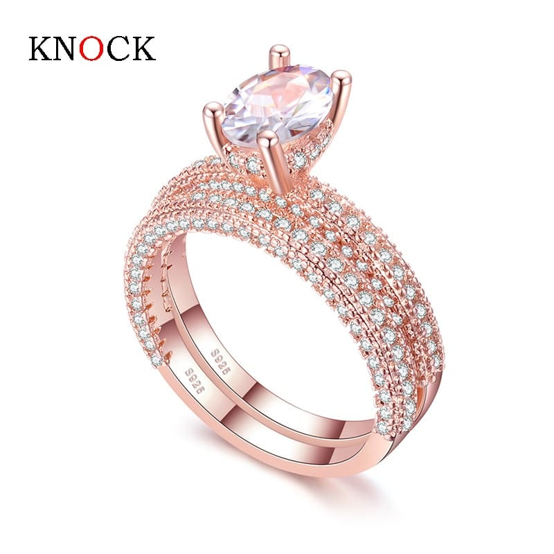 KNOCK-high-quality-Rose-Gold-Double-row-White-gold-For-Women-Fashion-Cubic-Zirconia-Wedding-Engagement