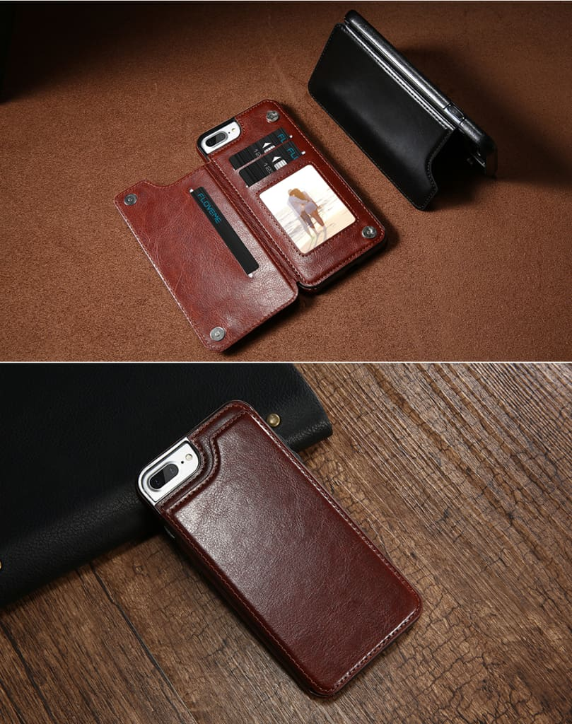 Flip Leather Case For iPhone 7 6 6S Plus YYF  (7)