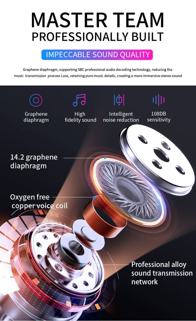 Bluetooth Stereo Earphone Wireless
