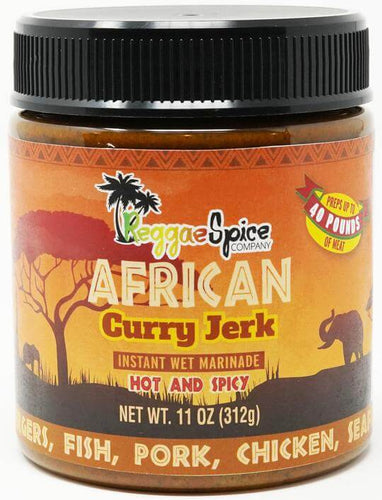 African Curry Jerk Instant Wet Marinade - Case Of 12 - Jamaican Jerk Seasoning Marinade Sauce
