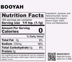 BOOYAH JAMAICAN DRY SEASONING - Jamaican Jerk Seasoning Marinade Sauce