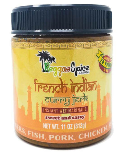 French Indian Curry - Case of 12 - Jamaican Jerk Seasoning Marinade Sauce