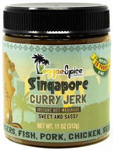 Singapore Curry Jerk - Case Of 12 - Jamaican Jerk Seasoning Marinade Sauce
