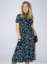 Load image into Gallery viewer, Lunar Moth Lace Trim Mockneck Dress