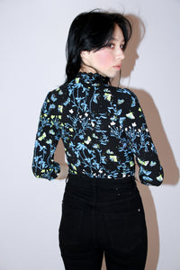 Lunar Moth Lace Trim Top