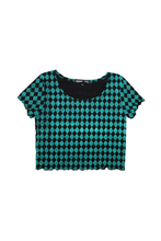 Load image into Gallery viewer, Diamond Crop Tee