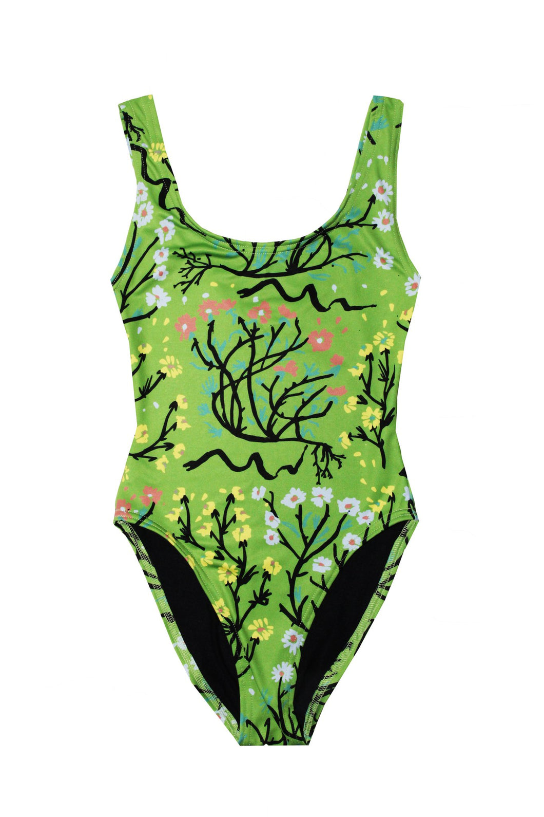 Spring Uprooted Cheeky Swimsuit, S