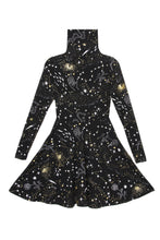 Load image into Gallery viewer, Stardust Turtleneck Twirl Dress