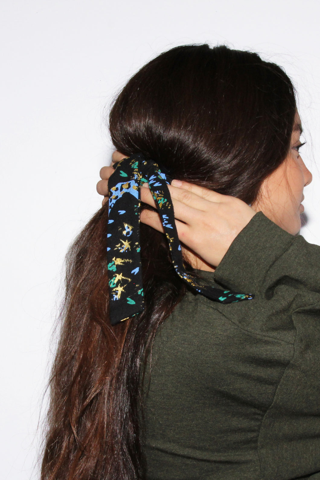 Thorn & Snake Raw Silk Scrunchie
