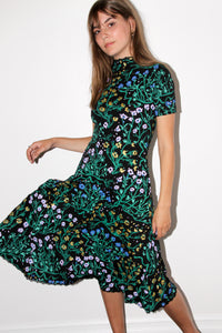 Uprooted Mockneck Twirl Dress