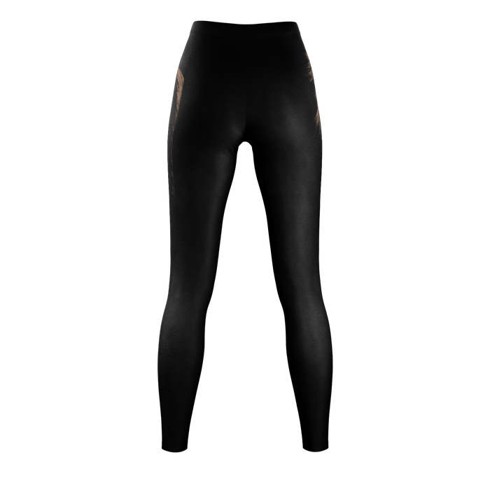 Lion Black Leggings