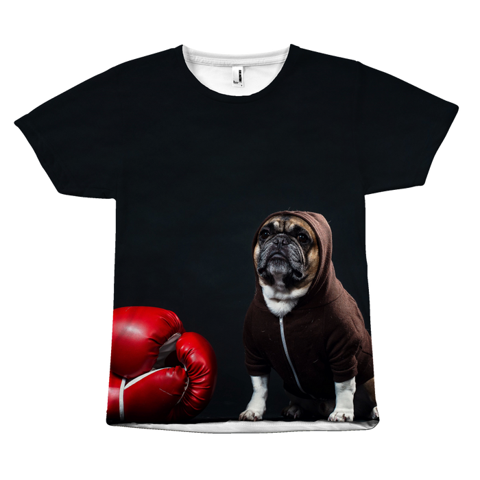 BULL DOG  WITH HOODED ROBE and BOXING GLOVES  T-Shirt