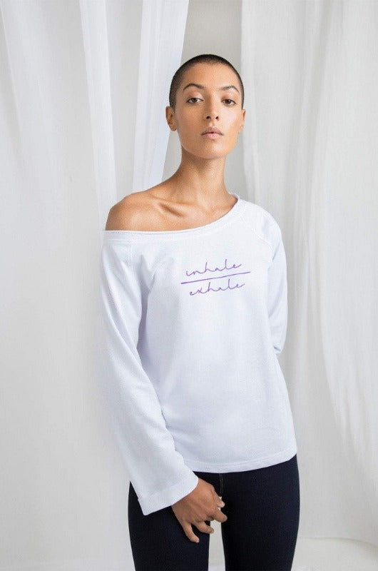 sacred threads flash dance womens sweater yoga wear ethical sourced and produced
