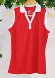 WESTSIDE - Sleeveless Top with Collar (sz L)