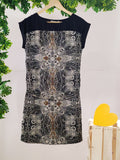 PROMOD - Printed Dress with Golden Bead Work (sz 10, With Tag)