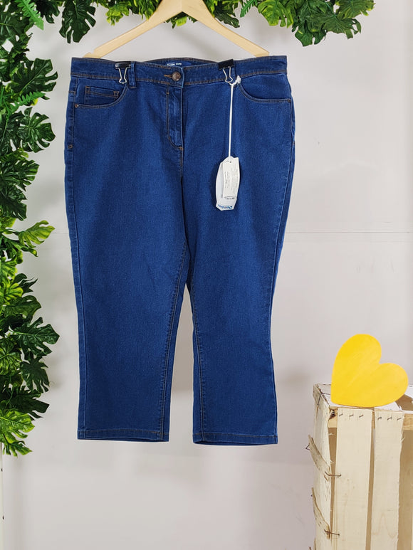 BHS - Denim Capri (sz 16 / 44, With Tag)