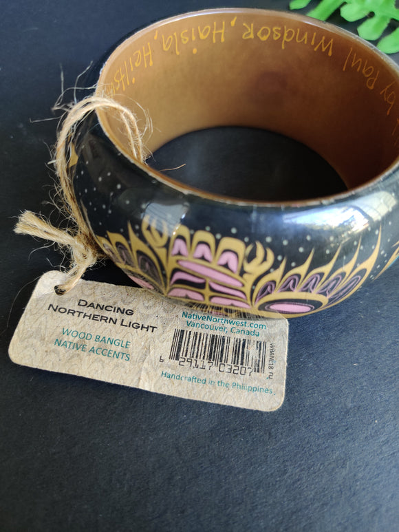 Wooden Bangle (With Tag)