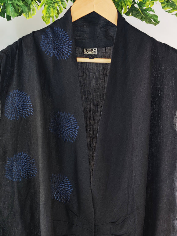 DESIGNER NEERU KUMAR - Linen Jacket with Button Detailing (sz L)
