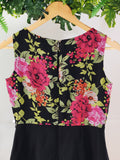 MAST & HARBOUR - Dress with Peter Pan Collar and Floral pattern (sz S)