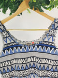 ONLY - Printed Top Stretch Fabric (sz M)