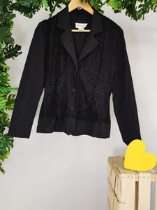 SUSSAN - Blazer with Lace Insert on the Front (sz 10)