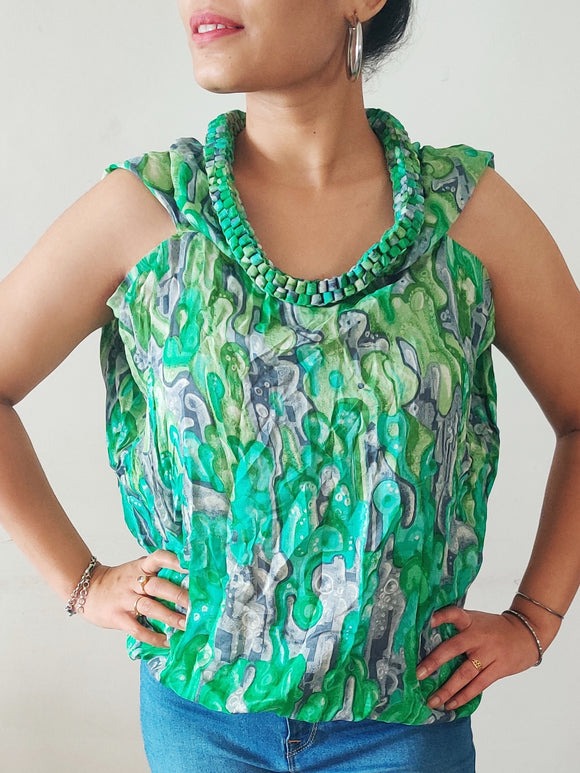 MORPHE by AMIT AGGARWAL - Top with Statement Neckline (sz S / M)