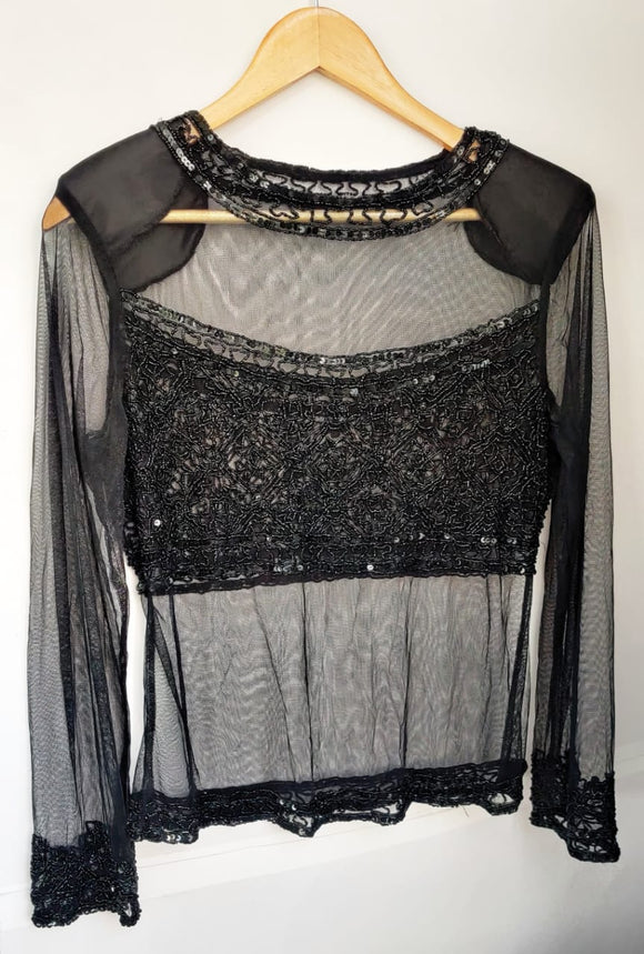 Sheer Top with Sequins (bust 36-38 )