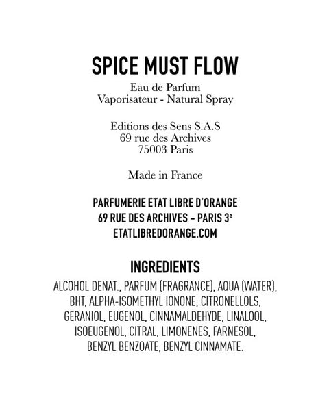 SPICE MUST FLOW