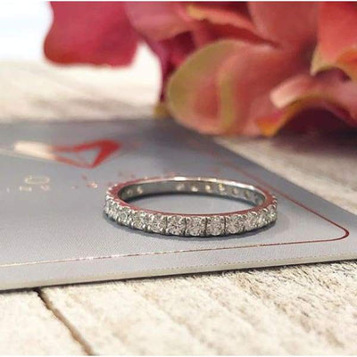 EB014 ~ MOISSANITE 1.38CT WHITE GOLD ETERNITY BAND