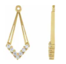 E131 ~ Moissanite ~ Earring Jacket