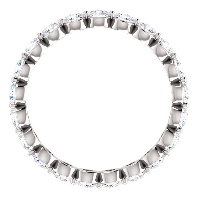 WBM0080 ~ 14KW - 1.02ctw Single Prong Set Eternity Band