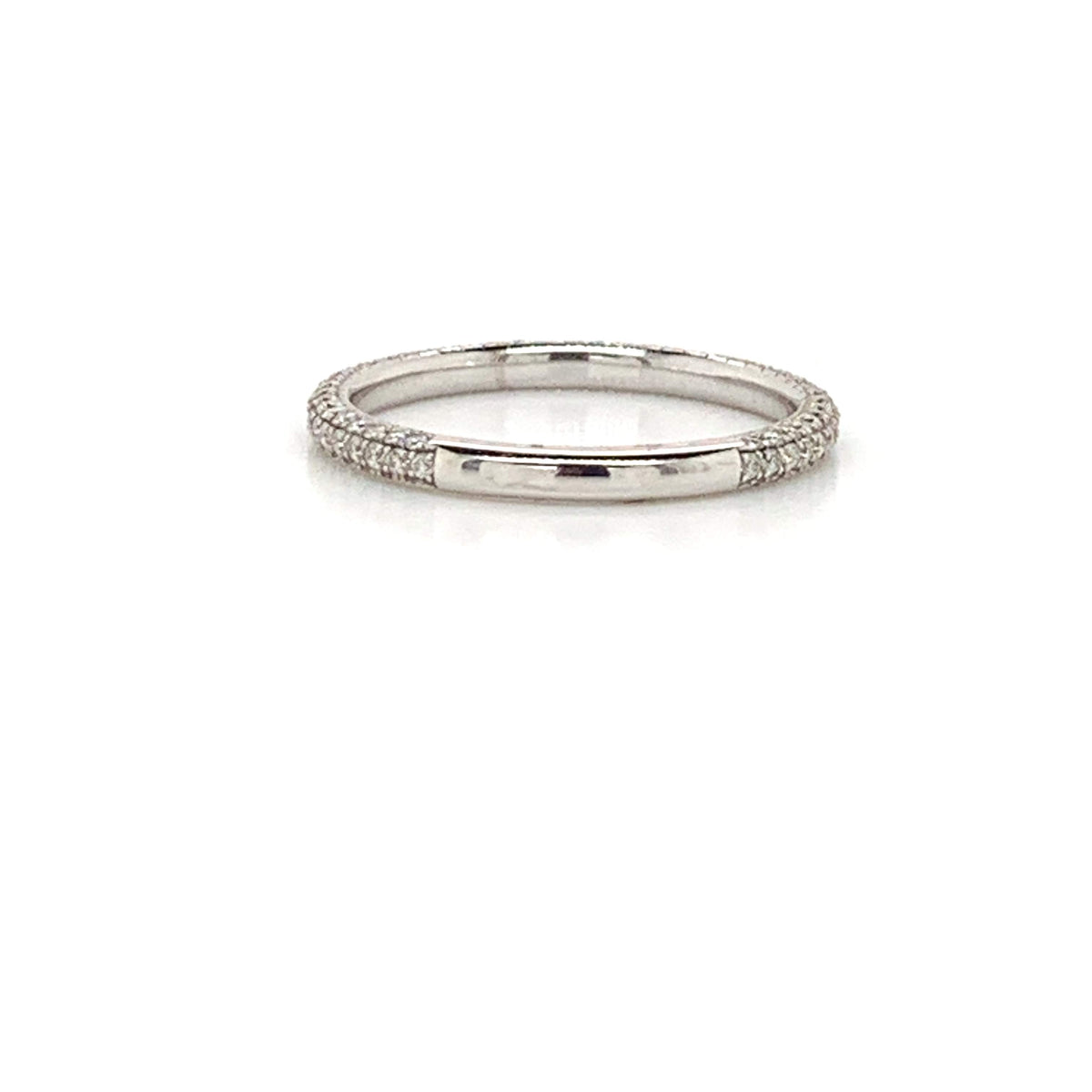 WBM0101 ~ MOISSANITE ~ 3 EDGE WEDDING BAND