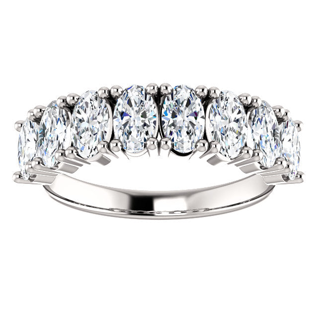 WBM0137 ~ MOISSANITE ~ 2.08CT OVAL WEDDING BAND