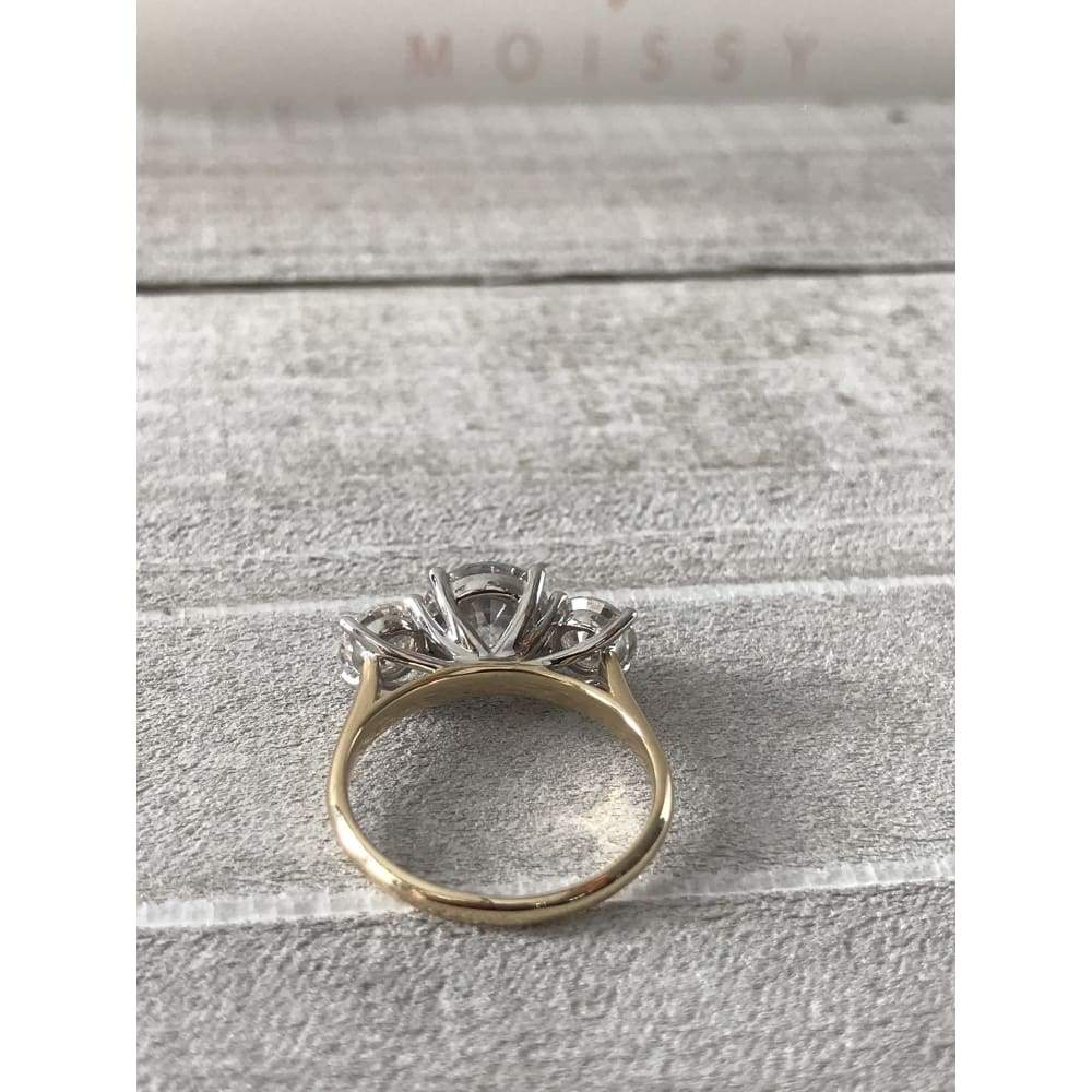 Debbie ~ 14Kyw 8Mm Round 3 Stone Moissanite Ring - Ring