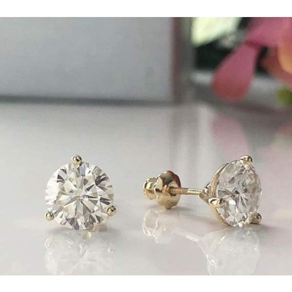 Earrings ~ 3Ct Moissanite Martini Earrings - Earrings