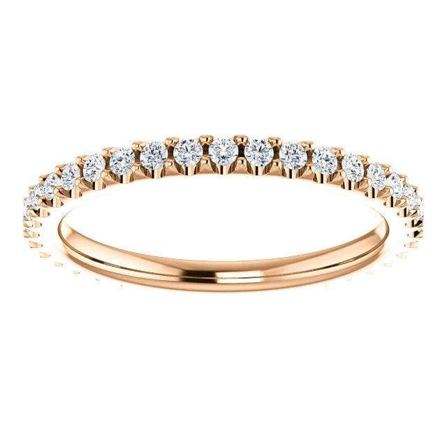 Eb013 ~ Diamond ~ 0.15Ct Round Rose Gold Eternity Band - Bands