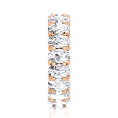 Ebm014 ~ Moissanite ~ 5.72 Oval Eternity Rose Gold Band - Bands