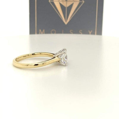 Hannah ~ 14Kyw 7Mm Cushion Moissanite Solitaire - Ring