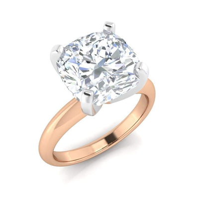 Layla ~ Cushion 2.4Ct Moissanite Solitaire - Ring