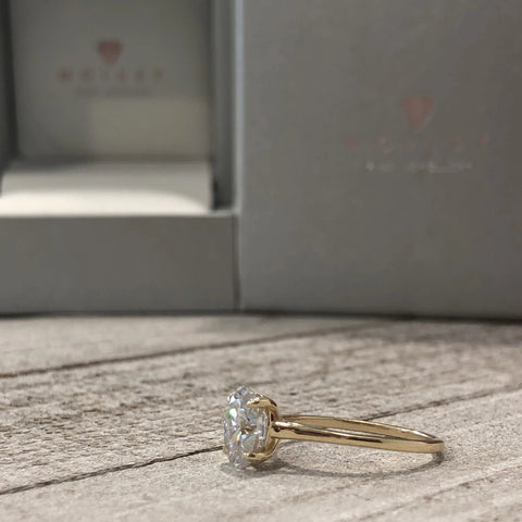 Lexi ~14K 8x6mm Oval Moissanite Solitaire